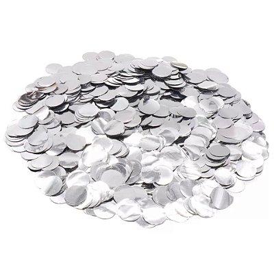 Confete bola metalizado - Prata 2 cm (40g)