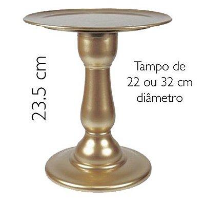 Boleira 23.5 cm altura - Dourada (escolha o tampo)
