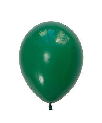 """Balão 11"""" látex - Verde (unidade)"""