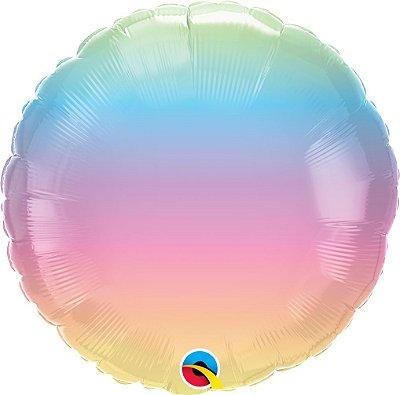 "Balão 18"" redondo Pastel Ombre - 34 cm (unidade)"