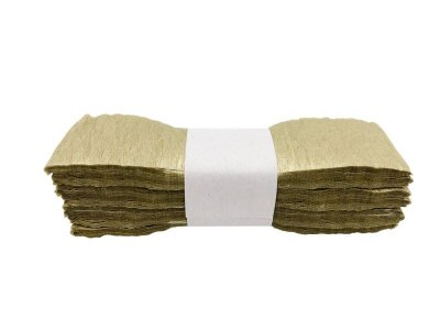 Fitas de papel crepom - Dourado (7 peças - 3 metros)