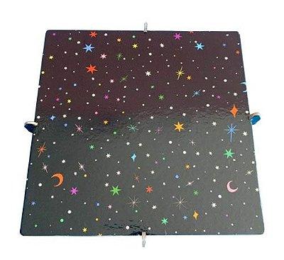 Bandeja Quadrada 20x20 - Poeira Cósmica (papelão desmontável)