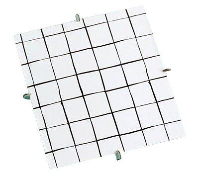 Bandeja Quadrada 20x20 preto e branco - Grid (papelão desmontável)