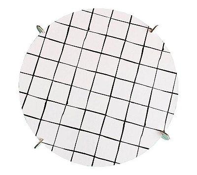Boleira 20cm preto e branco - Grid (papelão desmontável)
