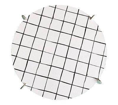 Boleira 26cm preto e branco - Grid (papelão desmontável)
