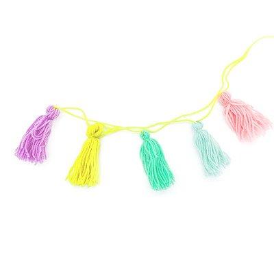 Guirlanda tassel - Candy Colors (5 peças - 9 cm h)