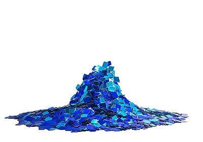 Mini Confete quadrado metalizado - Tons de Azul  (25g)
