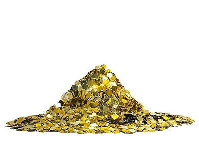 Mini Confete quadrado metalizado - Dourado  (25g)