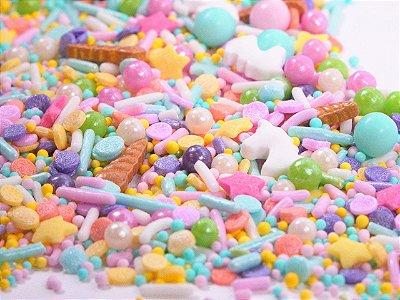 Confeito para Bolo - Unicórinio Pastel Sprinkles (90 gramas)