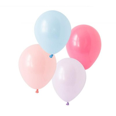 """Kit Balões látex 11"""" Algodão Doce - 4 cores (8 unidades)"""