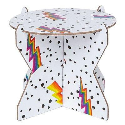 Mini Boleira 12 cm - Estampa Bowie / Raio (papelão desmontável)