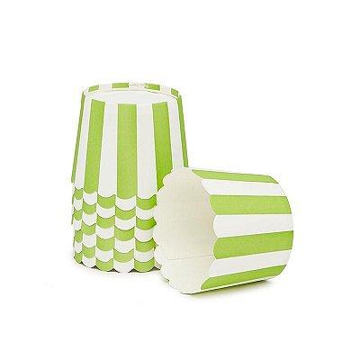 Formas de papel forneáveis para Cupcake - Maçã Verde (20 unidades)
