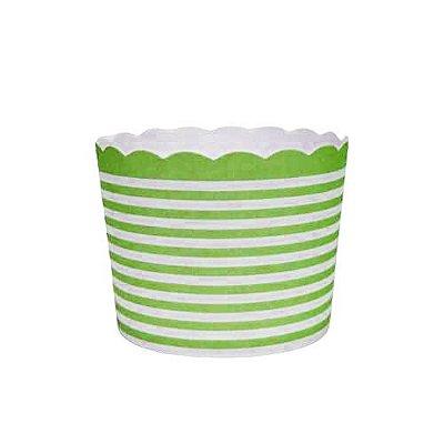 Formas de papel forneáveis para Cupcake - linhas Verde (20 unidades)
