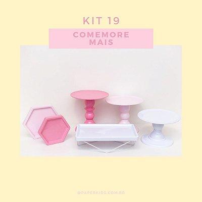KIT COMEMORE MAIS 19 - Rosa / Rosa Candy / Branco