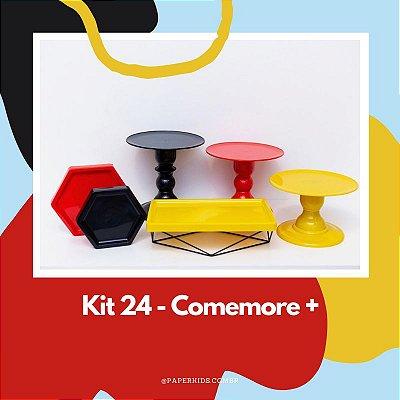 KIT COMEMORE MAIS 24 - Preto / Vermelho / Amarelo