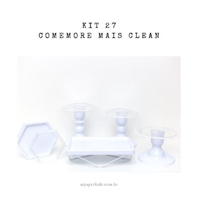 KIT COMEMORE MAIS CLEAN 27 - Branco