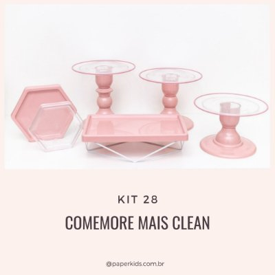 KIT COMEMORE MAIS CLEAN 28 - Rosa Seco