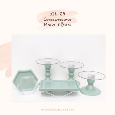 KIT COMEMORE MAIS CLEAN 29 - Verde Menta