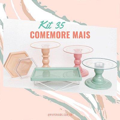 KIT COMEMORE MAIS CLEAN 35 - Nude / Rosa Seco / Verde Menta
