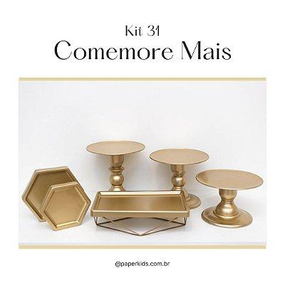 KIT COMEMORE MAIS 31 - Premium Dourado