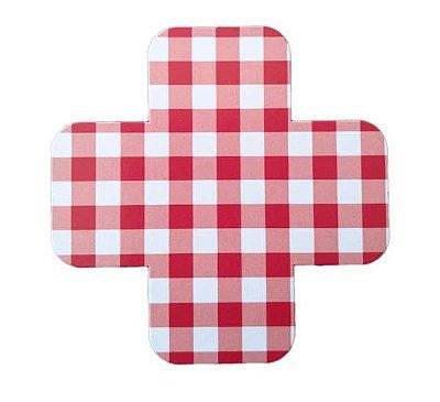 Forminha de doce - Vichy Vermelho (3 cm - 25 unidades)