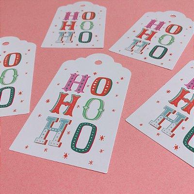 Tag de papel - HO HO HO (5 unidades)
