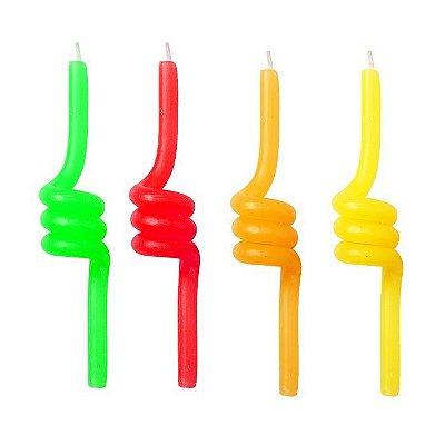 Vela de aniversário Twist - espiral (4 unidades)