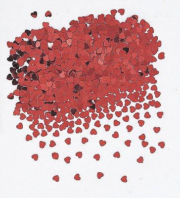 Mini Confete metalizado - Coração Vermelho (20G)
