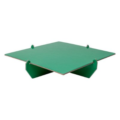 Bandeja Quadrada 20x20 - Verde (papelão desmontável)