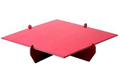Bandeja Quadrada 20x20 - Vermelho (papelão desmontável)