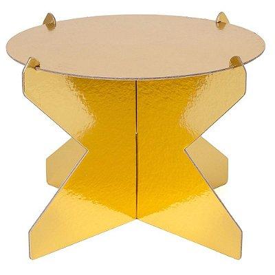 Boleira 20 cm - Dourada (papelão desmontável)