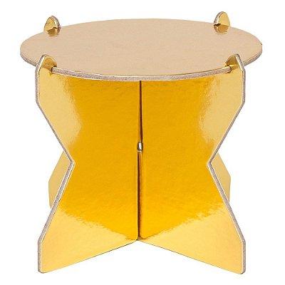 Mini Boleira 12 cm - Dourada (papelão desmontável)