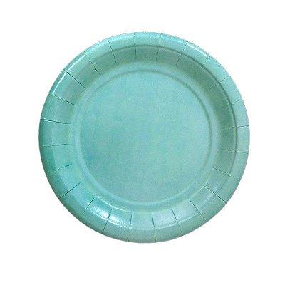 Pratinho de papel - Azul Tiffany 19 cm (8 unidades)