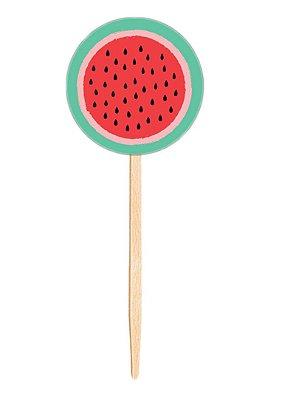 Topper para doces / cupcake - Melancia (10 unidades)