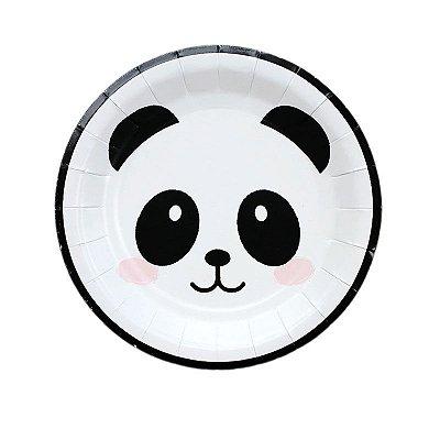 Pratinho de papel - Urso Panda (19 cm - 8 unidades)