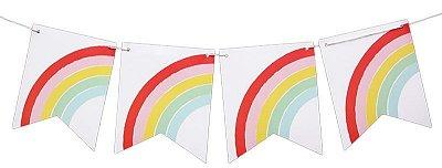 Bandeirola de papel - Arco-Íris (12 peças + cordão)