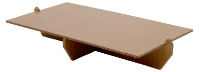 Bandeja retangular 14x25 cm - Marrom Kraft (papelão desmontável)