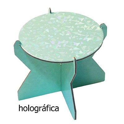 Mini Boleira 12 cm Holográfica - Verde Candy (papelão desmontável)