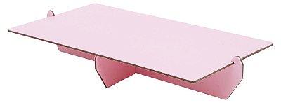 Bandeja retangular 14x25 cm - Rosa Candy (papelão desmontável)