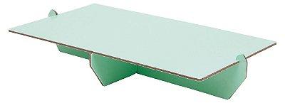Bandeja retangular 14x25 cm - Verde Candy (papelão desmontável)
