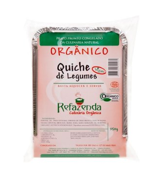 Quiche de Legumes Orgânica 250g - Refazenda