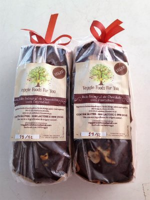 Bolo Integral de Chocolate com Amêndoas (1 unidade)