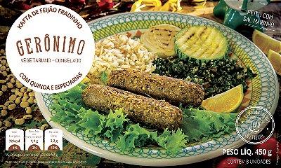 Kafta de feijão fradinho com quinoa e especiarias 450g (8 unidades) - Gerônimo