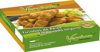 Tirinhas de Peixe Empanado Vegano 400g - Vegabom