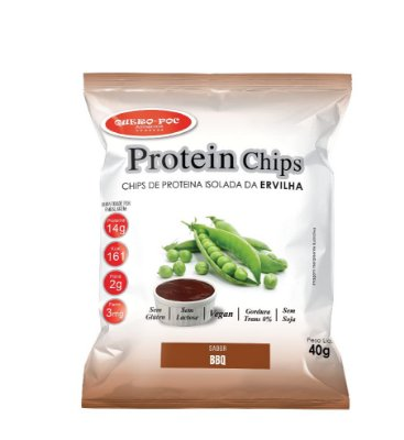 Chips de Proteína Isolada da Ervilha Sabor BBQ 40g - QueroPoc