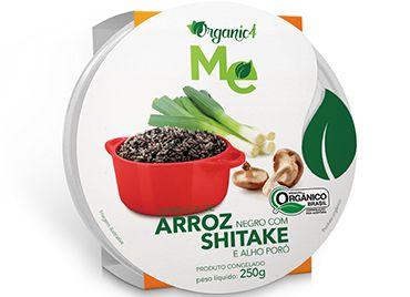 Cumbacão de arroz negro com shitake ealho poró 250 g - Organic 4