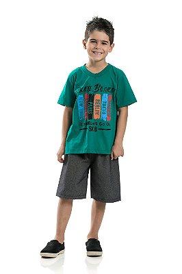Conjunto masculino Infantil Skate