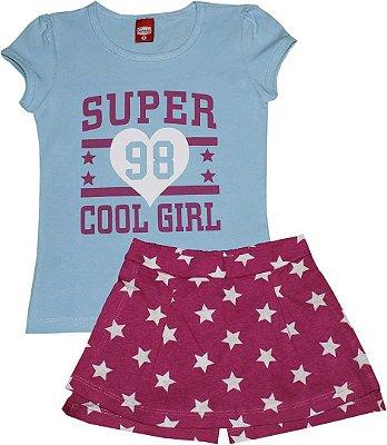 Conjunto Feminino Blusa e Shorts Cool Girl