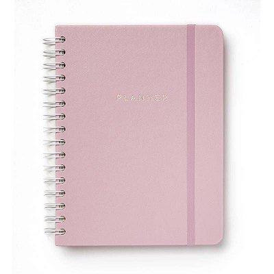 Agenda Planner Completo Wire-o Rosa Pastel A5