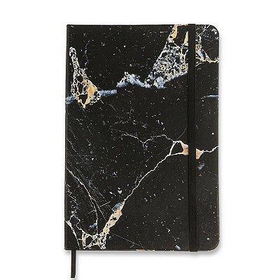 Caderneta Minerais Marmore Preto Pautada